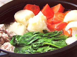 ほうれん草の野菜鍋